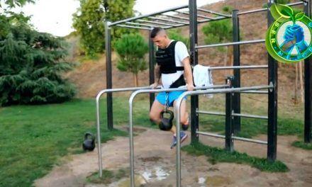 Preparación física del competidor profesional de Muai Thai Alberto Gala