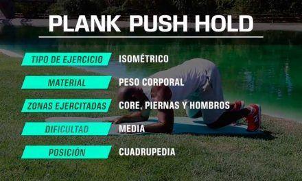 """Ejercicio isométrico de plancha """"Push plank"""""""