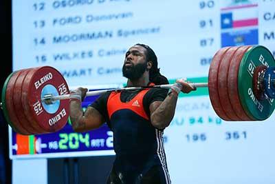 "Kendrick-Farris-""Levantador Olímpico de peso"